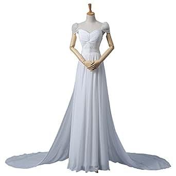 Chiffon cheap wedding dress beaded long prom dresses amazon fashion