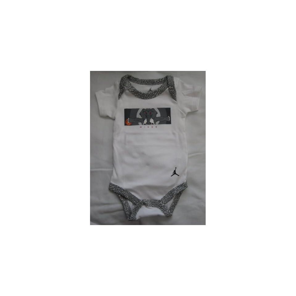 Nike Jordan New Born Baby Boy/Girl Bodysuit, Booties and Cap 0 6 Months One Set 3 Piece Set