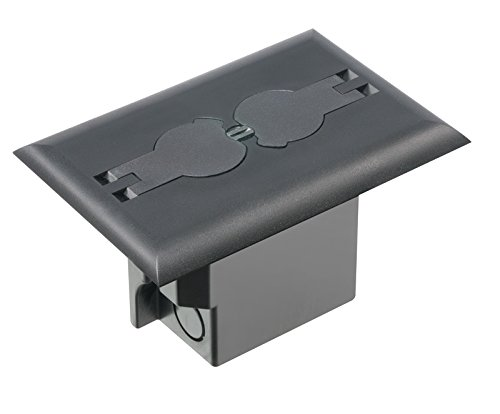 Arlington Industries Flbrf101Bl-1 Retrofit Electrical Floor Box With Flip Lids For Existing Floors, Black, 1-Pack