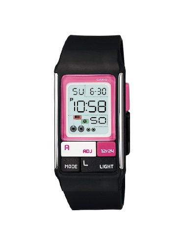 Casio Ladies Digital Watch LDF-52-1AEF With Poptone Resin Strap