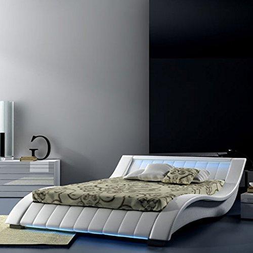 Muebles Bonitos - Cama Murano blanco-160x200cm (Varias medidas disponibles)