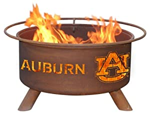 Auburn University Tigers Portable Steel Fire Pit Grill by Patina