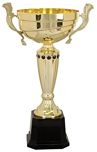 Gold Metal Cup Trophy (14.5 inch Tall)