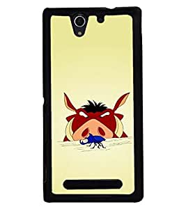 PRINTSWAG CARTOON CHARACTER Designer Back Cover Case for SONY XPERIA C3