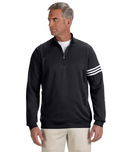 Adidas Golf A190 Mens ClimaLite Pullover - Black/White - 'L