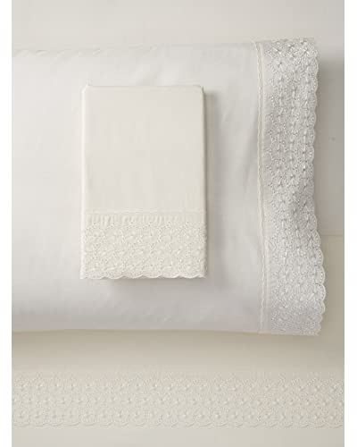 Westport Linens Emma Embroidered Sheet Set  [Ivory]