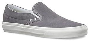 Vans Unisex Classic Slip-On (Vintage) Frost Gray/Blanc Skate Shoe 7.5 Men US / 9 Women US