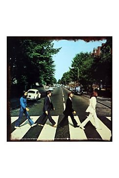 The Beatles Abbey Road Album Cover Distressed Retro Vintage Tin Sign