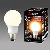 三菱 LED電球 MILIE(ミライエ) 密閉器具対応 調光器対応形 一般電球形 全方向タイプ(220度) E26口金 電球色 白熱電球60W形相当 810lm LDA8L-G/60/D/S-A
