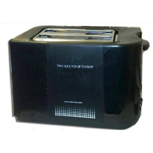 CostMad® Black 700W Two Slice Pop Up Toaster