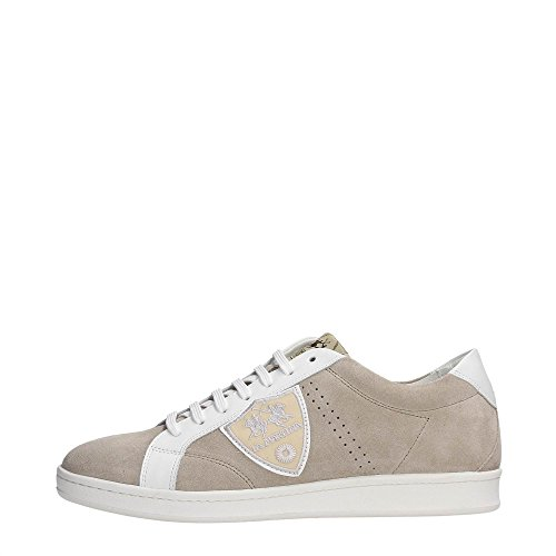 La Martina Shoes L1005281 Sneakers Uomo Scamosciato Panna Panna 44