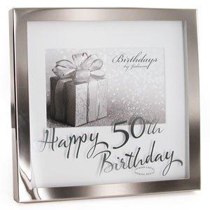 Amazon Wedding Gift List Review : Happy 50th Birthday 6 4 Photo Frame: Amazon.co.uk: Kitchen & Home
