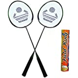 CB-88 Badminton Racket Pair With Field King Badminton Shuttle Cock ( Pack Of 10 )- Badminton Kit