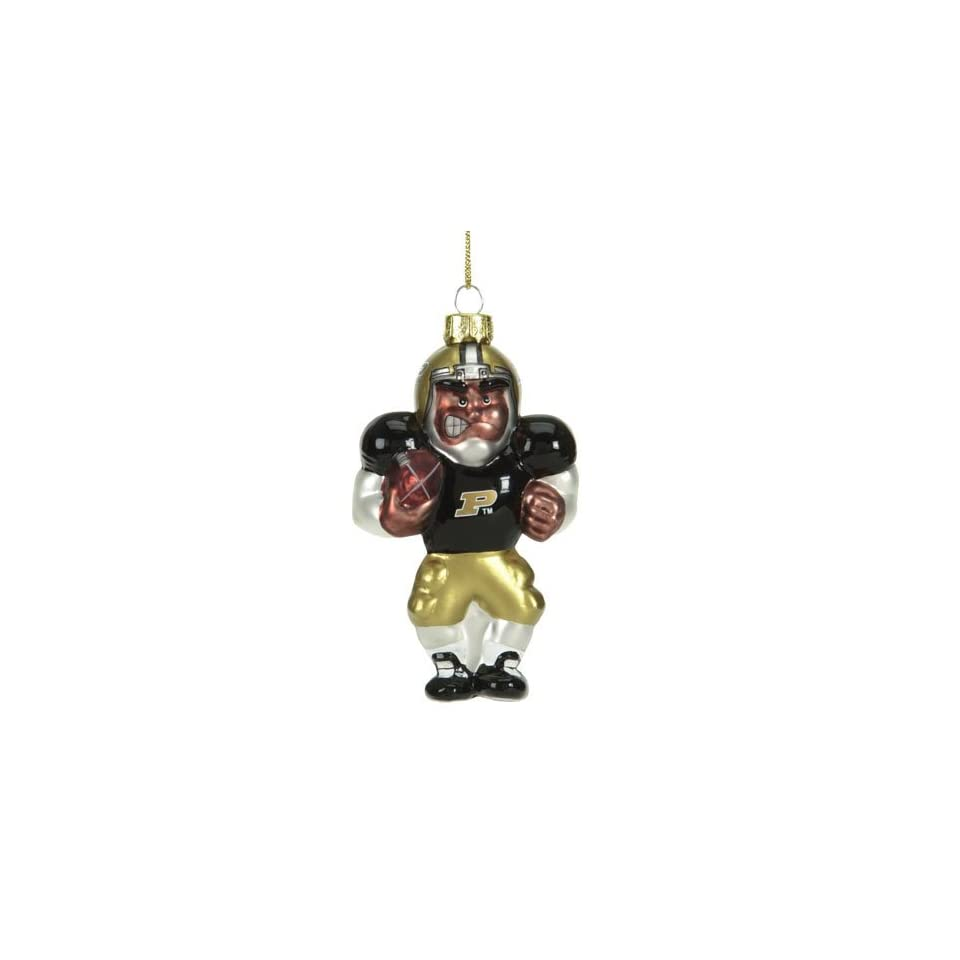 Purdue Boilermakers NCAA Glass Player Ornament (4 African American)