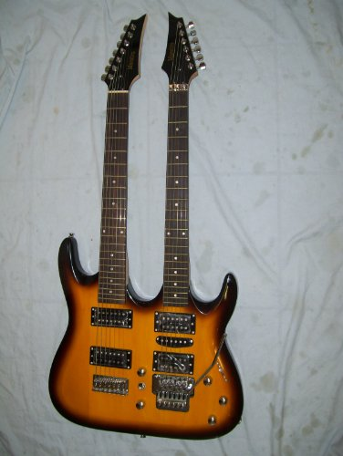 Double Neck Electric Guitar, 6 And 7 String