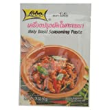 Easy Cooking: Holy Basil Seasoning Paste for Made Original Thai Food 50g X 3 Pack for Travel Cooking Kit, Camping Food, Camping Cooking (Asia Most Wanted Ingredient: Delicious Same Professional Chef in Original Recipe)