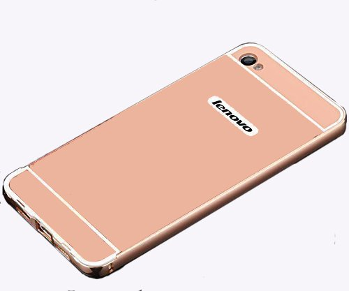 premium selection 9ac2a 2251c CEDO mirrorLenvK5+RS Premium Luxury Metal Bumper Acrylic Mirror Back Cover  Case For Lenovo Vibe K5 / K5+ Plus,(Rose Gold)