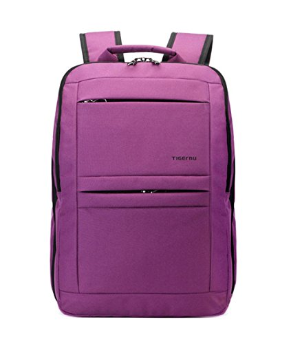 Yacn Slim School Bags Laptop Backpack Computer Backpack Bags Travel Backpack for Business -Fits Up to 14.1 inch Notebook (purple)