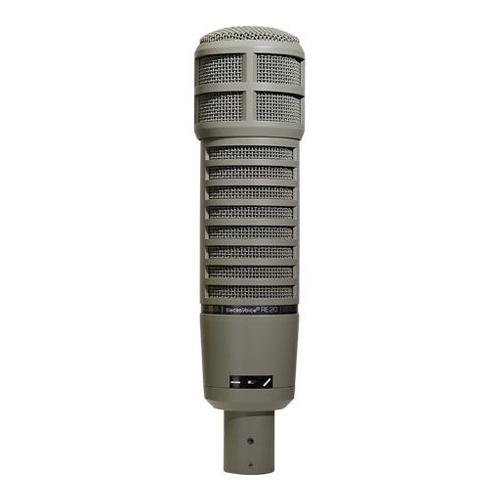 Electro-Voice Re20 Variable-D Dynamic Cardioid Microphone, 45-18000Hz Frequency Response, 150 Ohms Impedance
