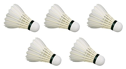 Something4u Feather Shuttlecock, (Pack Of 5, White)