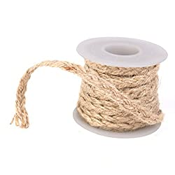 Imported Hessian Burlap Craft Rope Ribbon for Vintage Wedding Party Home Decor 5M