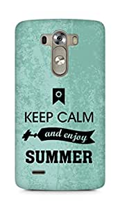 Amez Keey Calm and Enjoy Summer Back Cover For LG G3