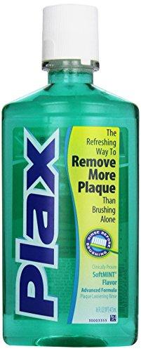 Plax Advanced Formula Plaque Loosening Rinse, Soft Mint, 16 Fluid Ounce