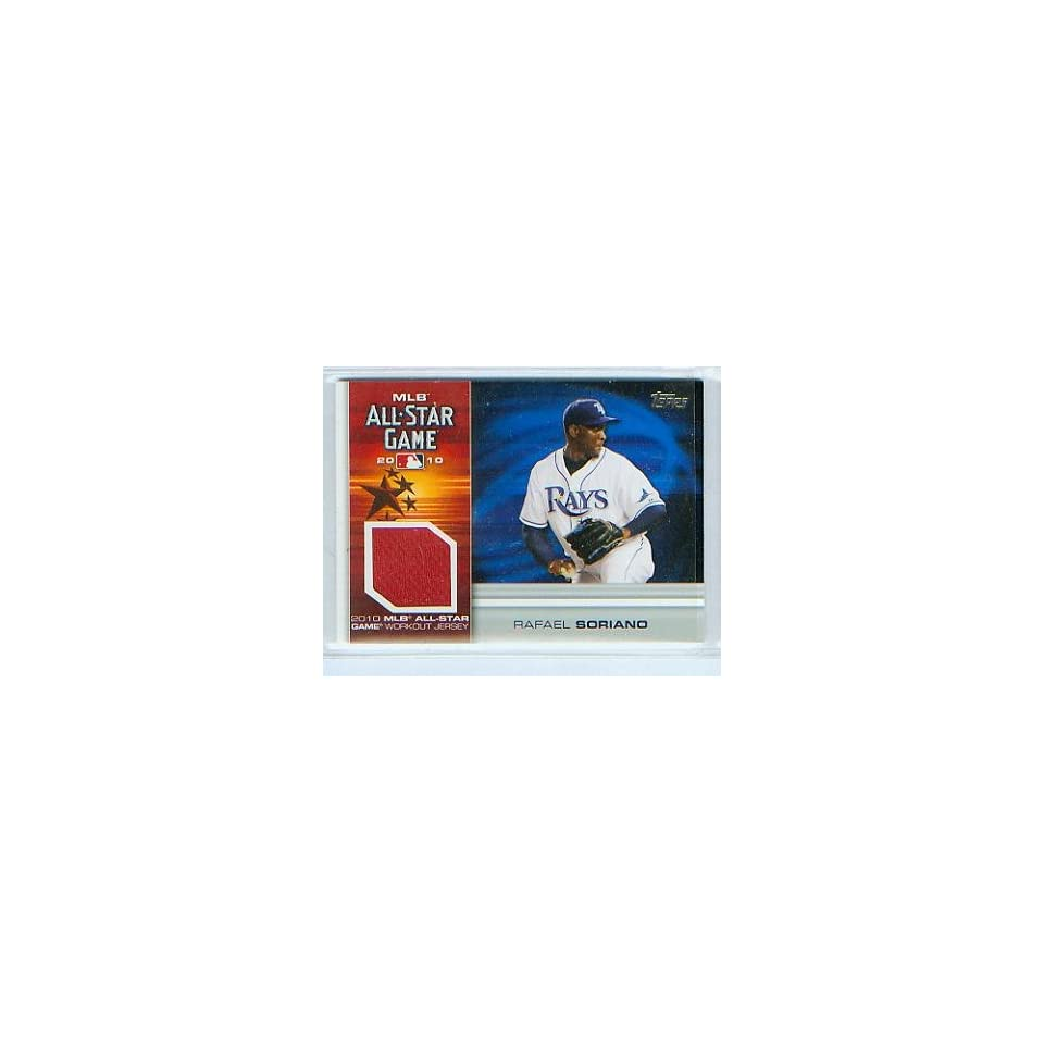 Rafael Soriano 2010 Topps Baseball MLB All Star Game Work Out Jersey Card #AS RS New York Yankees