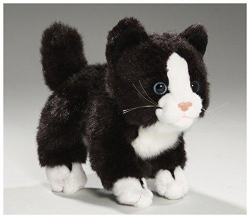 Katze stehend, schwarzweiß aus Plüsch, ca.