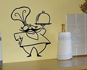 Amazon.com - Italian Kitchen Chef - Vinyl Wall Decal By Great