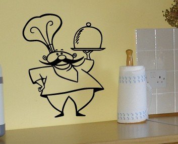 Reviews Italian Kitchen Chef – Vinyl Wall Decal By Great Walls of ...