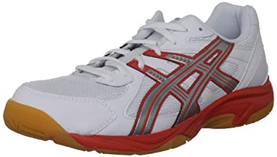 Asics Men's Gel Doha White/Silver/Red Court Trainer B200Y 0193 7 UK