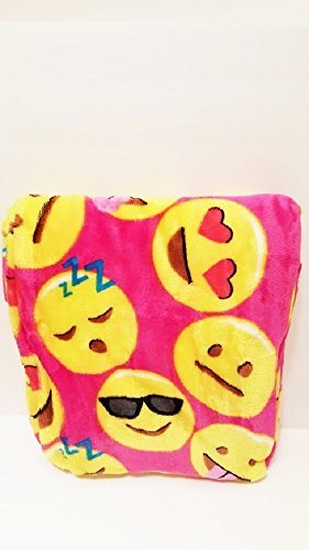 [Emoji Faces Round Velvet Throw Blanket Kids Plush Soft Toy Toddlers Teens Emojies Expressions WILL Vary 50