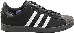 Adidas Men\'s Superstar Vulc Adv Black/Ftwwht/Black Skate Shoe 11.5 Men US