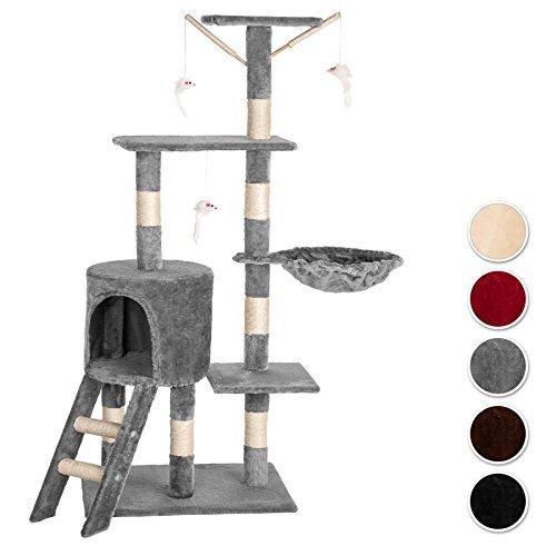 TecTake Tiragraffi per gatti gatto gioco palestra sisal nuovo altezza media - disponibile in diversi colori - (Grigio | no. 401433)