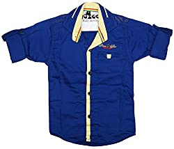CAY 100% Cotton RoyalBlue Color Designer shirt (Size:S)