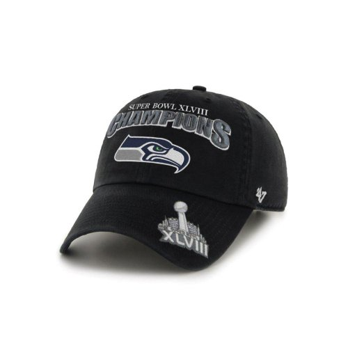Seattle Seahawks 2014 Super Bowl XLVIII Champions Adjustable Hat by '47 Brand at Amazon.com