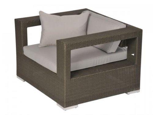 aniba Design Sessel inkl. Polster Merida aus Polyrattan, anthrazit