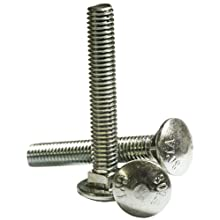 Zinc Plated Steel Carriage Bolt, Oval Head, 1/4&#034;-20, 1/2&#034; Length (Pack of 125)