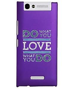 KolorEdge Back Cover For Gionee Elife E7 Mini - Purple (2293-Ke15087GioneeE7MiniPurple3D)