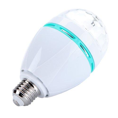 Kingzer 3W E27 Led Disco Stage Lighting Rgb Crystal Full Color Auto Rotating Lamp Bulb