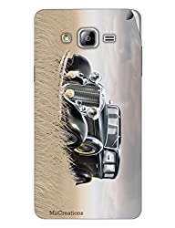 Miicreations Mobile Skin Sticker For Samsung Galaxy On7,Vintage Car