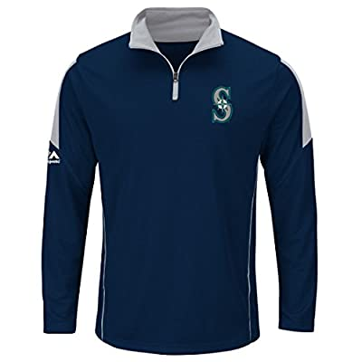 "Seattle Mariners Majestic MLB ""Status"" Cool Base 1/4 Zip Performance Shirt"