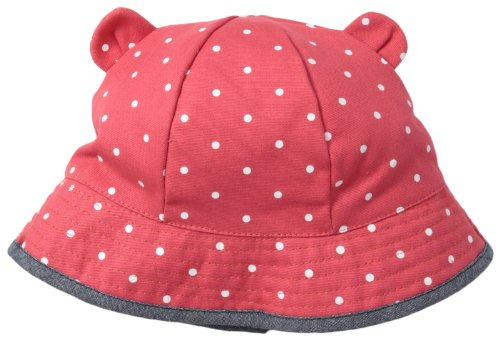 Osh Kosh Baby-Girls Infant Polkadot Twill Hat With Novel Ears, Red/Navy, 12-24 Months