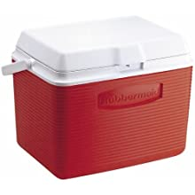 Rubbermaid Cooler / Ice Chest, 24-quart, Red (FG2A1304MODRD)