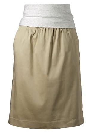 APART Fashion - Skirt - sand-silver grey mélange - Size 20