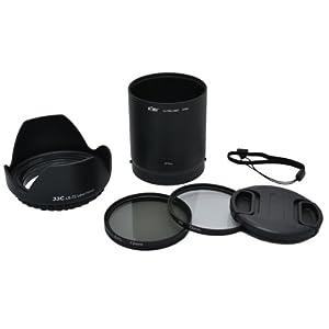 Kiwifotos Kit d'accessoires pour Fujifilm FinePix S8200, S8300, S8400, S8400w, S8500, S9150, S9200, S9250, S9400W, S9450W, S9800, S9900W, SL1000 - Adaptateur d'objectif comprend, Pare-soleil d'objectif, Filtres UV & CPL, Bouchon d'objectif et Bouchon d'Objectif gardien