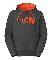 The North Face Men\'s Half Dome Hoodie - New Fit Asphalt Grey Heather/Seville Orange X-Large