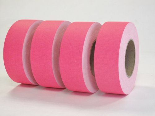 4 Rolls Premium Professional Grade Gaffer Tape 4 Pack - 2 Inch X 50 Yards - Fluorescent / Neon Pink Color- 4 Rolls Per Case