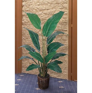 New Nearly Natural Travellers Silk Palm Tree 4.5 ft Includes 13 Leaves of Various Shades of Green